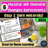 Distance Learning Science Physical and Chemical Changes Ex