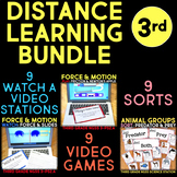 Distance Learning Science Station BUNDLE 3rd Grade