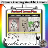 Distance Learning Scratch-board Technique Drawing Visual A
