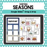 Distance Learning - Seasons Sorting Mats: A Google Slides