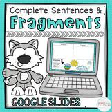 Distance Learning Sentence Fragments Google Slides & Boom Cards