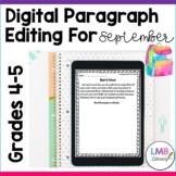Distance Learning September Writing: Digital Paragraph Edi