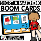 Distance Learning- Short A (CVC) Word Matching Boom Cards