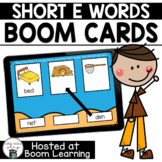 Distance Learning- Short E (CVC) Word Matching Boom Cards