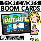 Distance Learning- Short E (CVC) Word Reading Boom Cards B