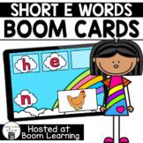 Distance Learning- Short E (CVC) Word Unscramble Boom Card