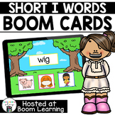 Distance Learning- Short I (CVC) Picture Match Boom Cards