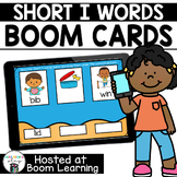 Distance Learning- Short I (CVC) Word Matching Boom Cards