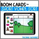 Short Vowel Sort BOOM CARDS