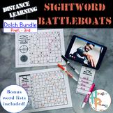 Distance Learning Sight Word Battleboats Bundle [PreK-3rd]
