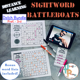 Distance Learning Sight Word Battleboats Bundle [PreK-3rd]