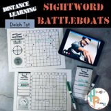 Distance Learning Sight Word Battleboats: Dolch 1st Grade