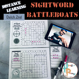 Distance Learning Sight Word Battleboats: Dolch 2nd Grade