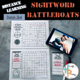 Distance Learning Sight Word Battleboats: Dolch 3rd Grade