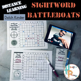 Distance Learning Sight Word Battleboats: Dolch Kindergarten