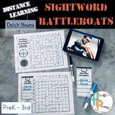 Distance Learning Sight Word Battleboats: Dolch Nouns [PreK-3rd]