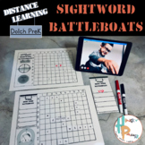 Distance Learning Sight Word Battleboats: Dolch PreK