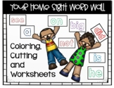 Distance Learning Sight Word Wall with worksheets