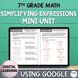 Distance Learning Simplifying Expressions Mini Unit Using