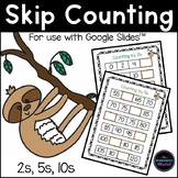 Skip Counting by 2, 5 and 10 for Google Classroom™