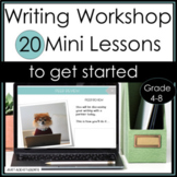 Distance Learning Slides 20 Mini Lessons for Launching Wri