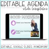 Distance Learning Slides | Google Slides | Agenda Slides |