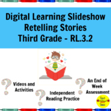 Distance Learning Slideshow Retelling Fiction Stories 3rd Grade