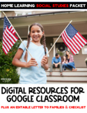 Distance Learning Social Studies: At Home Digital Learning