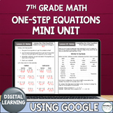 Distance Learning Solving One-Step Equations Mini Unit Usi
