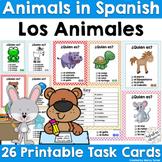 Spanish Animals Printable Task Cards | Los Animales
