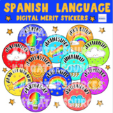 Spanish Language - Digital Reward Stickers for Seesaw / Ka