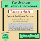 Distance Learning -Spanish Independent Work - Spanish Proficiency Exercise Guide