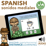 Distance Learning SPANISH Medial Sounds Boom Cards sonidos