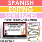 Distance Learning - Spanish Sentence Editing Slides - Corr