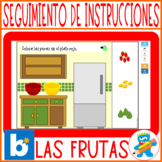 Distance Learning Spanish Speech Therapy Boom Cards Frutas