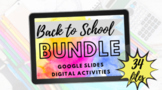 Distance Learning Special Education Back to School Bundle