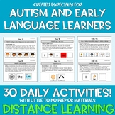 Distance Learning Speech Language Therapy 30 DAILY ACTIVIT