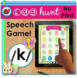 Distance Learning Speech Therapy | Digital | Easter Spring