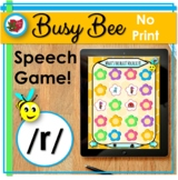 Distance Learning Speech Therapy - Digital No Print Spring
