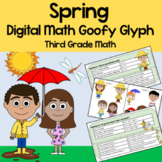 Distance Learning Spring Math Goofy Glyph Google Slides 3rd Grade