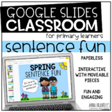Distance Learning Spring Sentence Fun- A Digital Resource