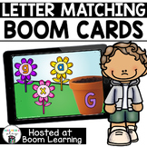 Distance Learning- Spring Themed Alphabet Letter Matching