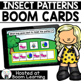 Distance Learning- Spring Themed Insect Patterns Boom Cards Deck