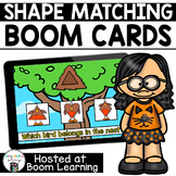 Distance Learning- Spring Themed Shape Matching Boom Cards Deck
