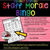Distance Learning Staff Bingo- A Fun Way to Boost Morale W