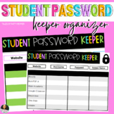 Distance Learning  Student Password Keeper & Organizer Template