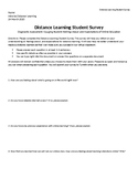 Distance Learning Student Survey