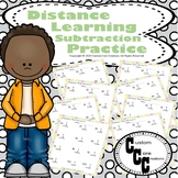 Distance Learning Subtraction Practice