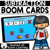 Distance Learning -  Subtraction within 10 Boom Cards