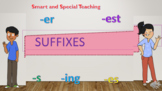 Distance Learning Suffixes -er & -est PPT & Google Slides Unit 4